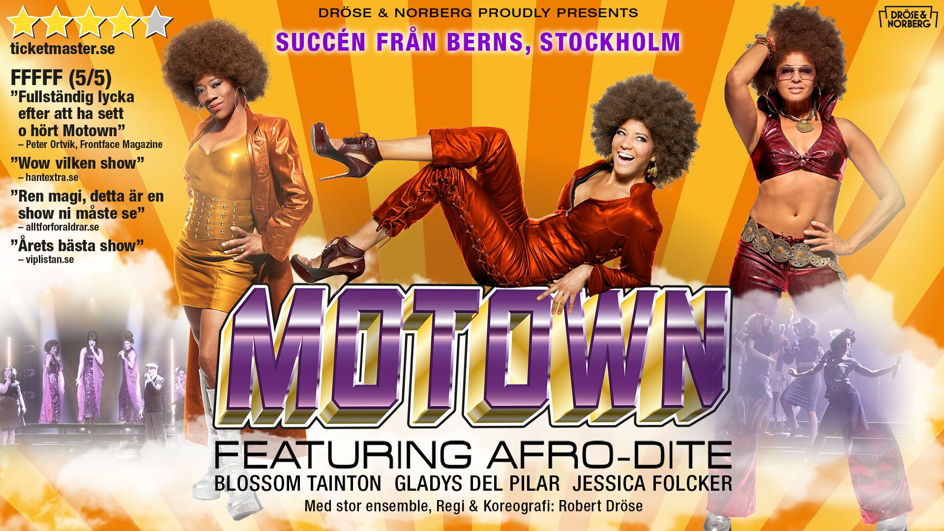 The Music of Motowm feat. Afro-Dite + hotell